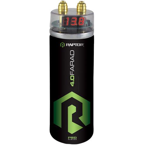 capacitors raptor car audio installation accessories r5cap pro series 4 0 farad capacitor digital top